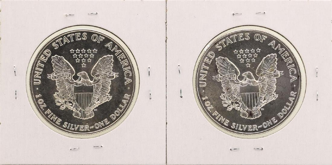 Lot of 1992-1993 $1 American Silver Eagle Coins - 2