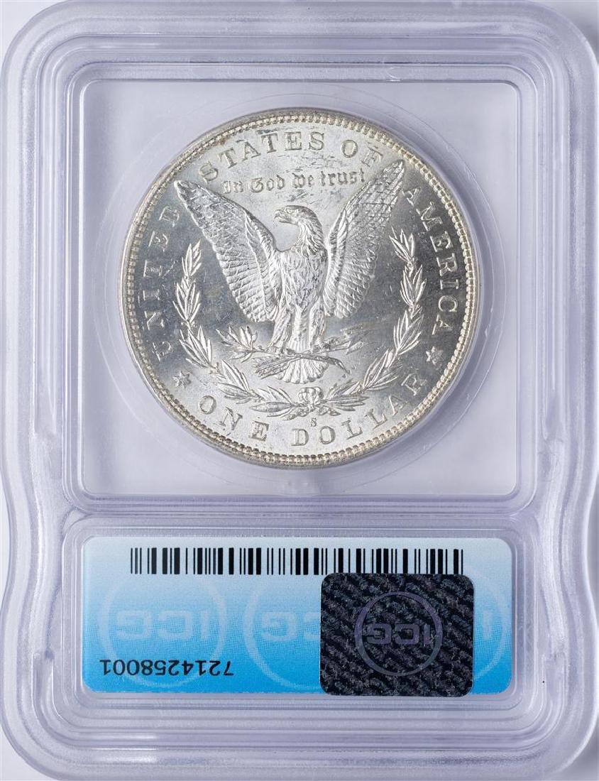 1890-S $1 Morgan Silver Dollar Coin ICG MS64+ - 2