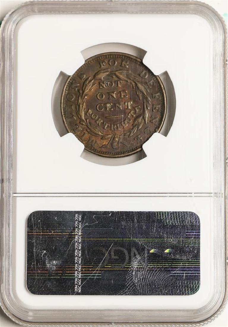 1841 Liberty - Not One Cent Hard Times Token HT-58 NGC - 2