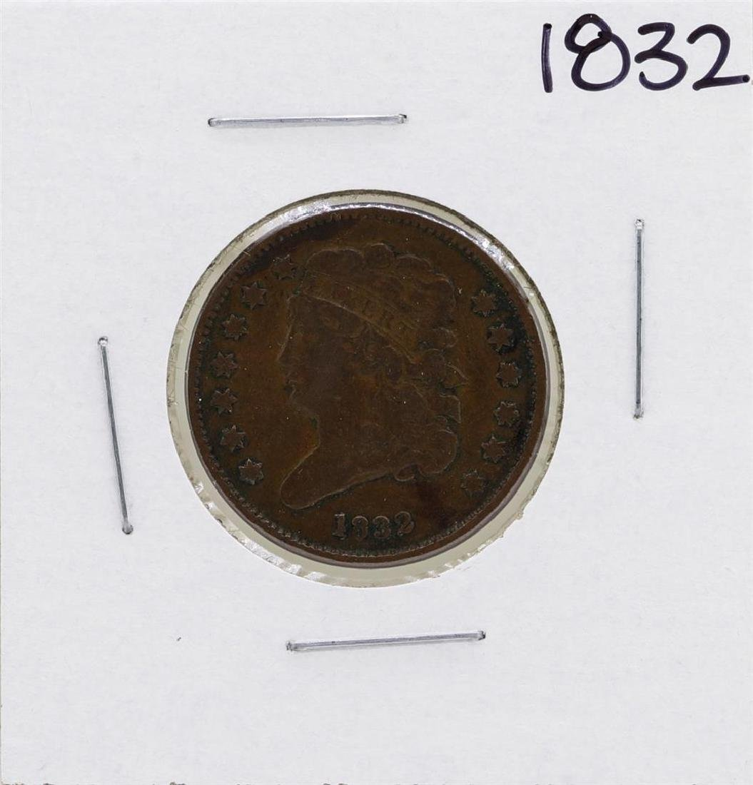 1832 Draped Bust Half Cent Coin
