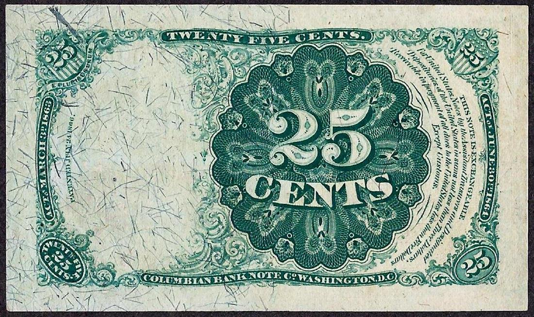 1874 Twenty Five Cents Fifth Issue Fractional Currency - 2