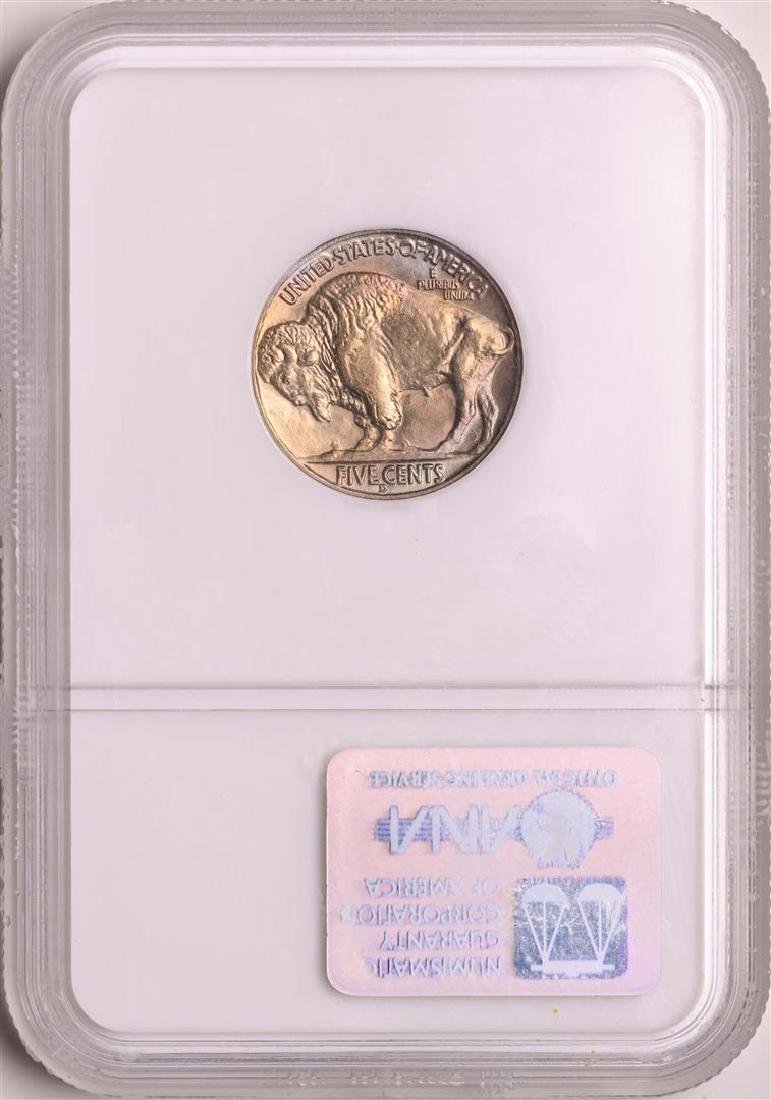 1938-D Buffalo Nickel Coin NGC MS66 Old Holder - 2