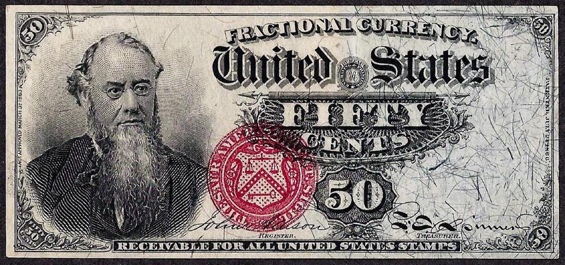 March 3, 1863 Fourth Issue Fifty Cent Fractional