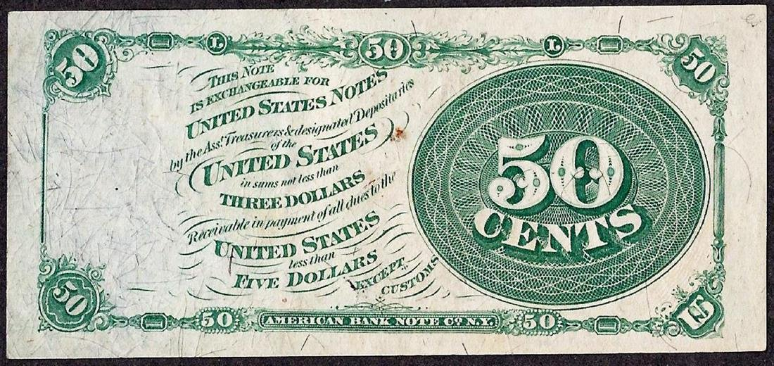 March 3, 1863 Fourth Issue Fifty Cent Fractional - 2