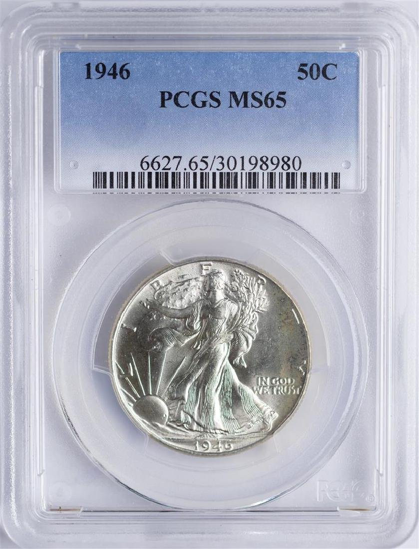 1946 Walking Liberty Half Dollar Coin PCGS MS65