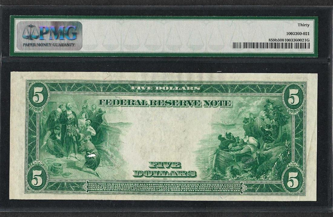 1914 $5 Federal Reserve Note Cleveland Fr.859b PMG Very - 2