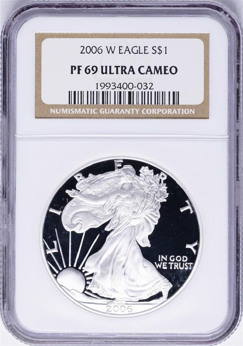 2006-W $1 American Silver Eagle Proof Coin NGC PF69