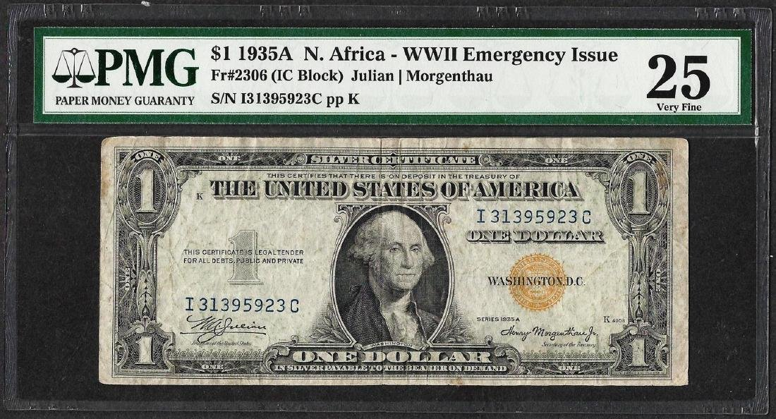 1935A $1 North Africa WWII Emergency Issue Silver
