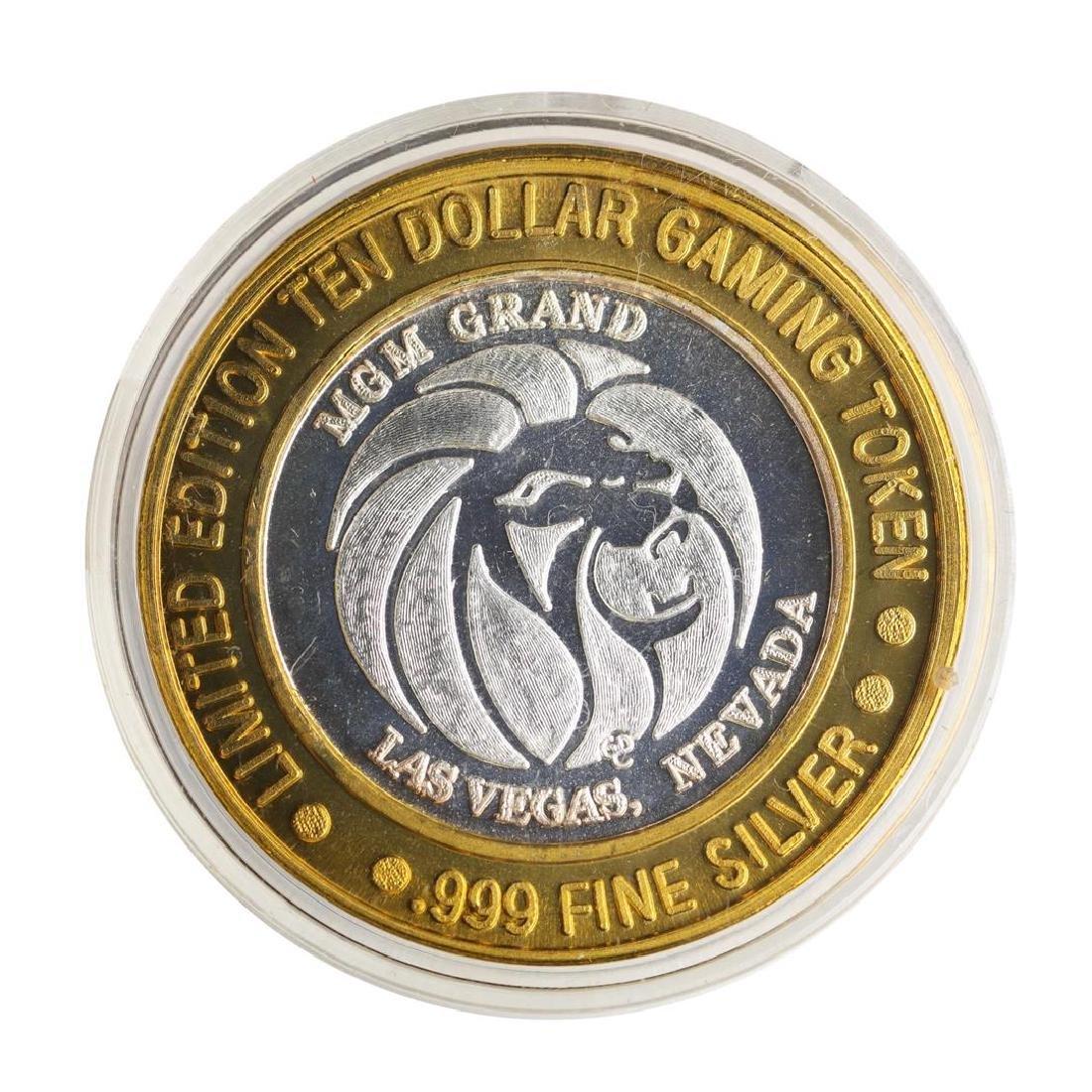.999 Silver MGM Grand Las Vegas $10 Casino Limited - 2