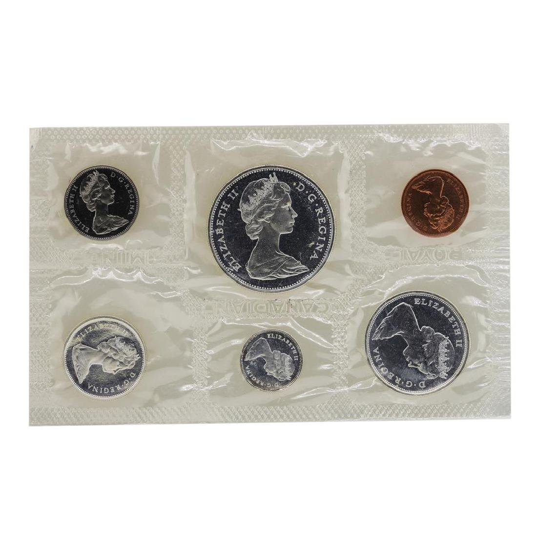 Lot of 1965-1967 Canada (6) Coin Proof Sets w/ Envelope - 2