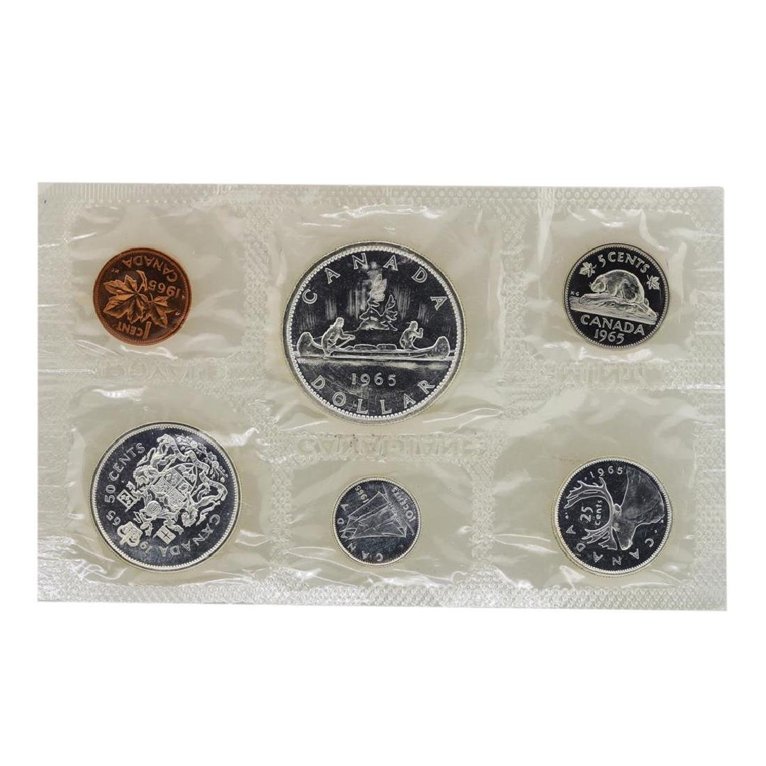 Lot of 1965-1967 Canada (6) Coin Proof Sets w/ Envelope - 3