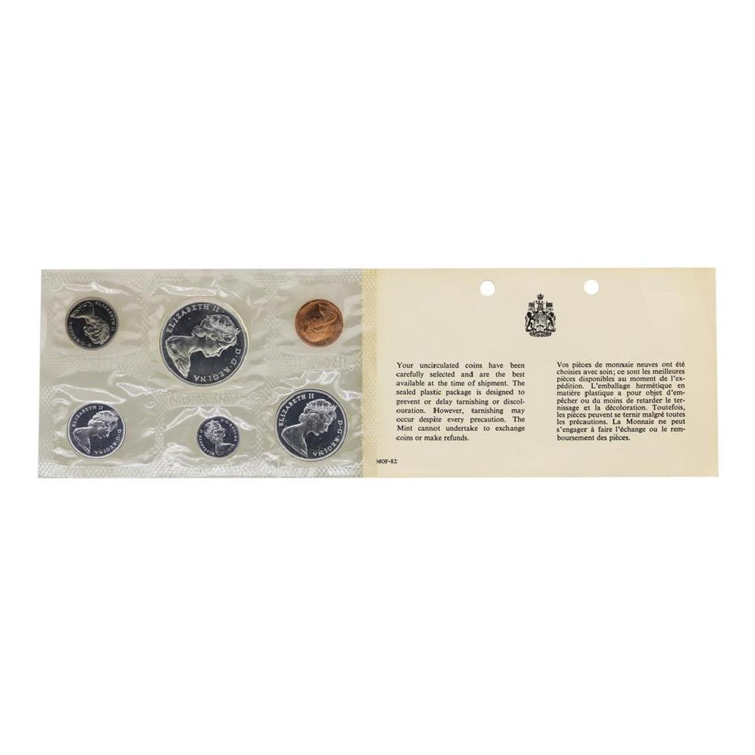 Lot of 1965-1967 Canada (6) Coin Proof Sets w/ Envelope - 6