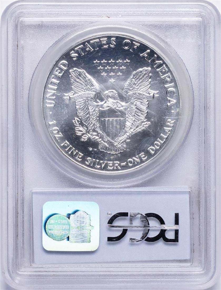 1992 $1 American Silver Eagle Coin PCGS MS69 - 2