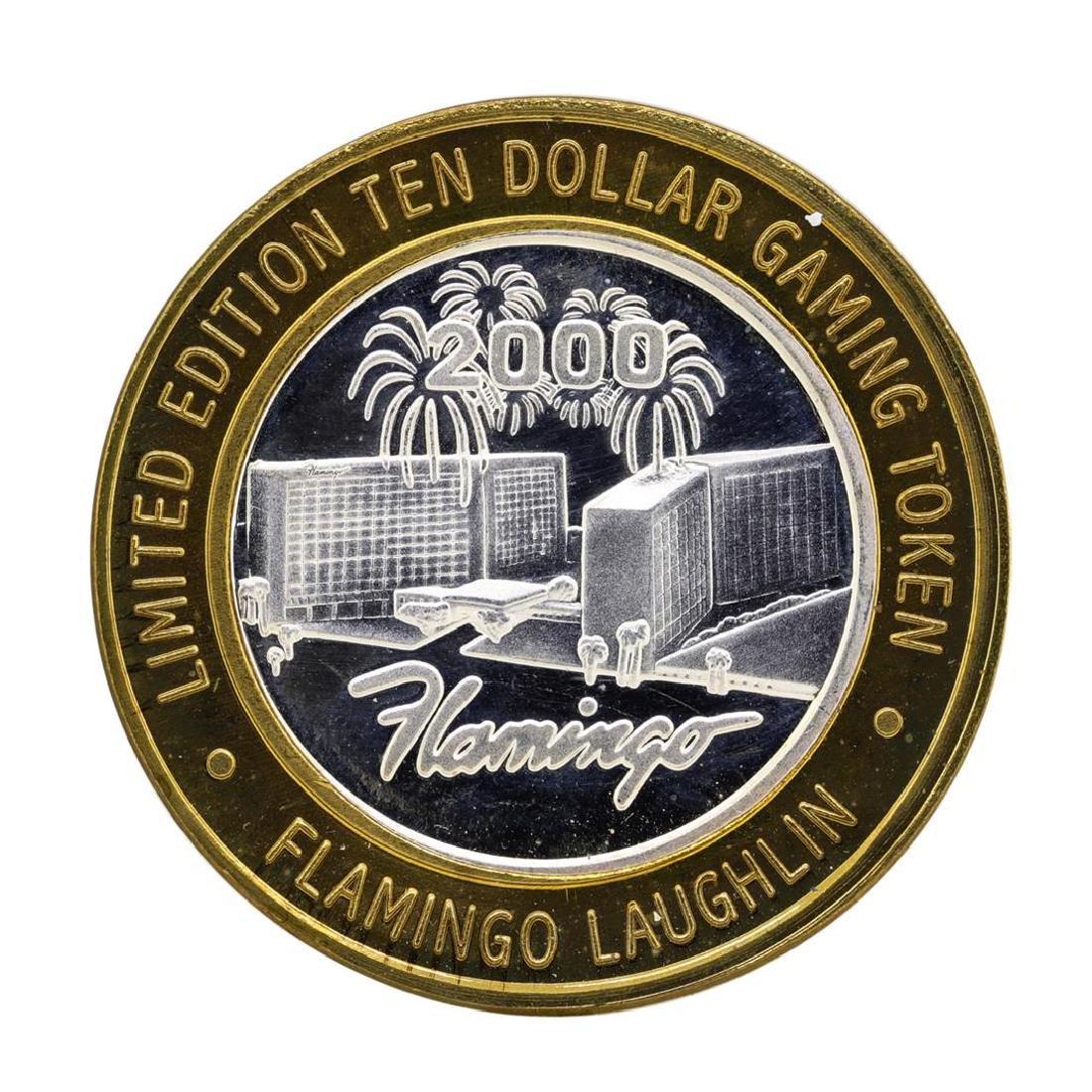 .999 Silver Flamingo Laughlin Nevada $10 Casino Limited - 2