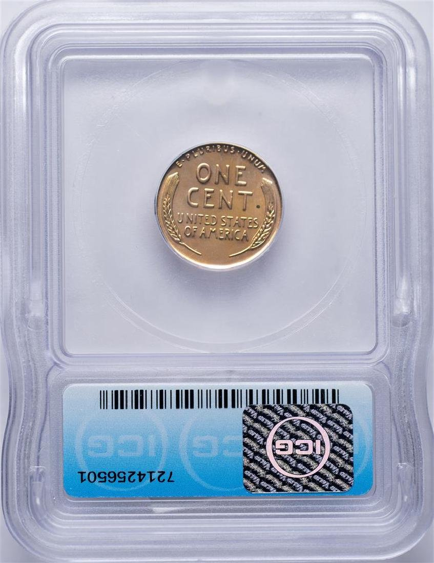 1953 Lincoln Wheat Cent Proof Coin ICG PR64RD - 2