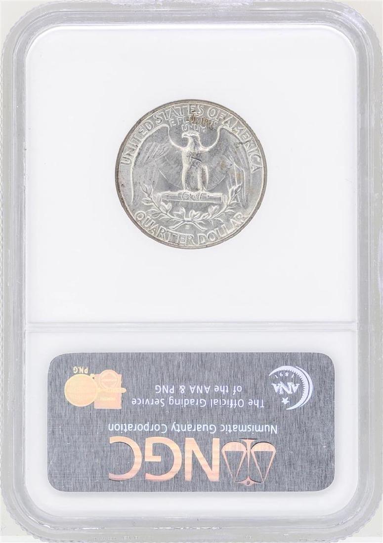 1939-D Washington Quarter Silver Coin NGC MS64 - 2