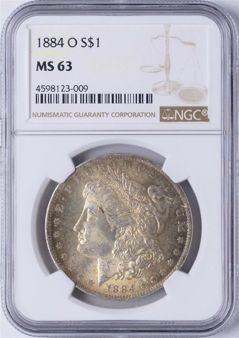 1884-O $1 Morgan Silver Dollar Coin NGC MS63 Nice