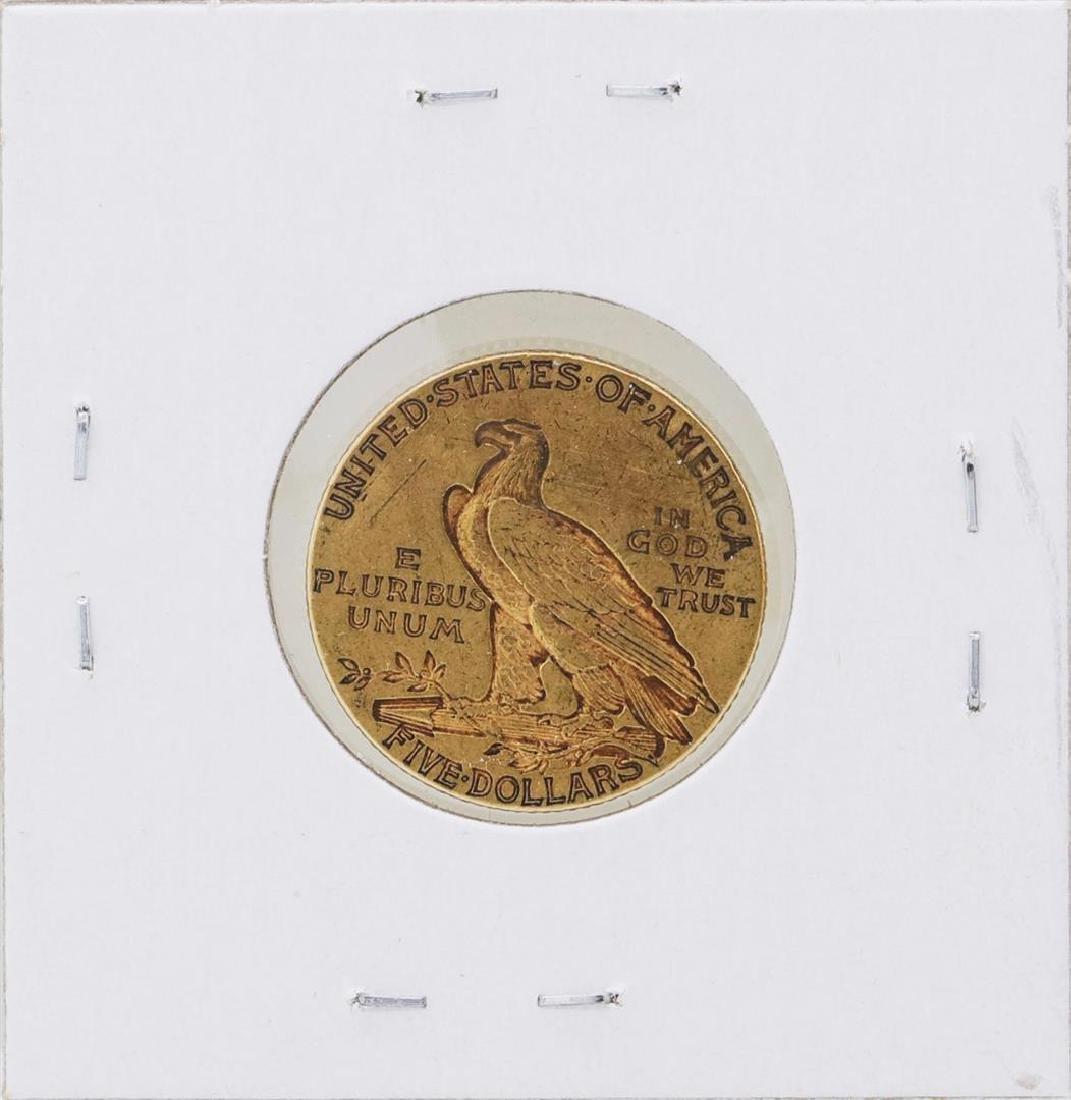 1909-S $5 Indian Head Half Eagle Gold Coin - 2