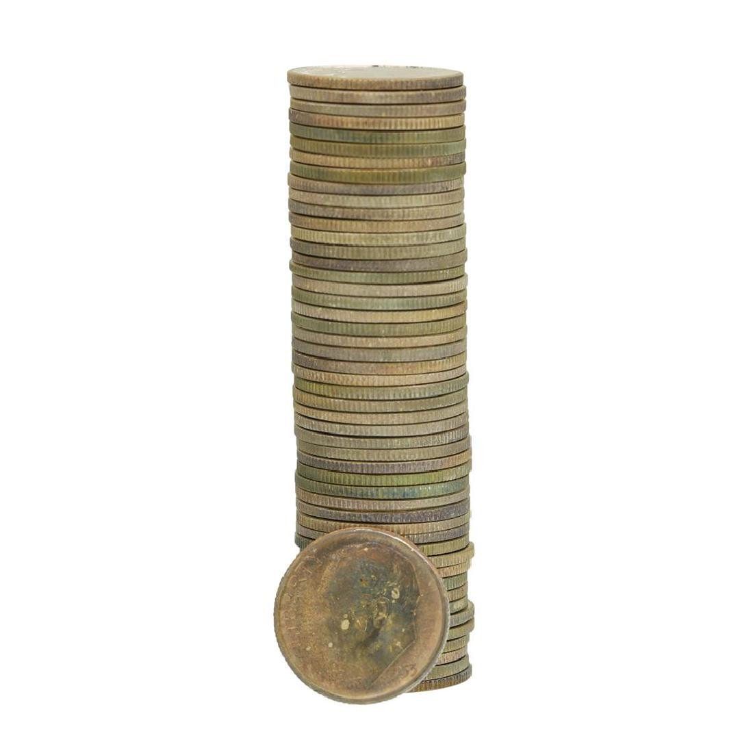 Roll of (50) 1953-S Brilliant Uncirculated Roosevelt