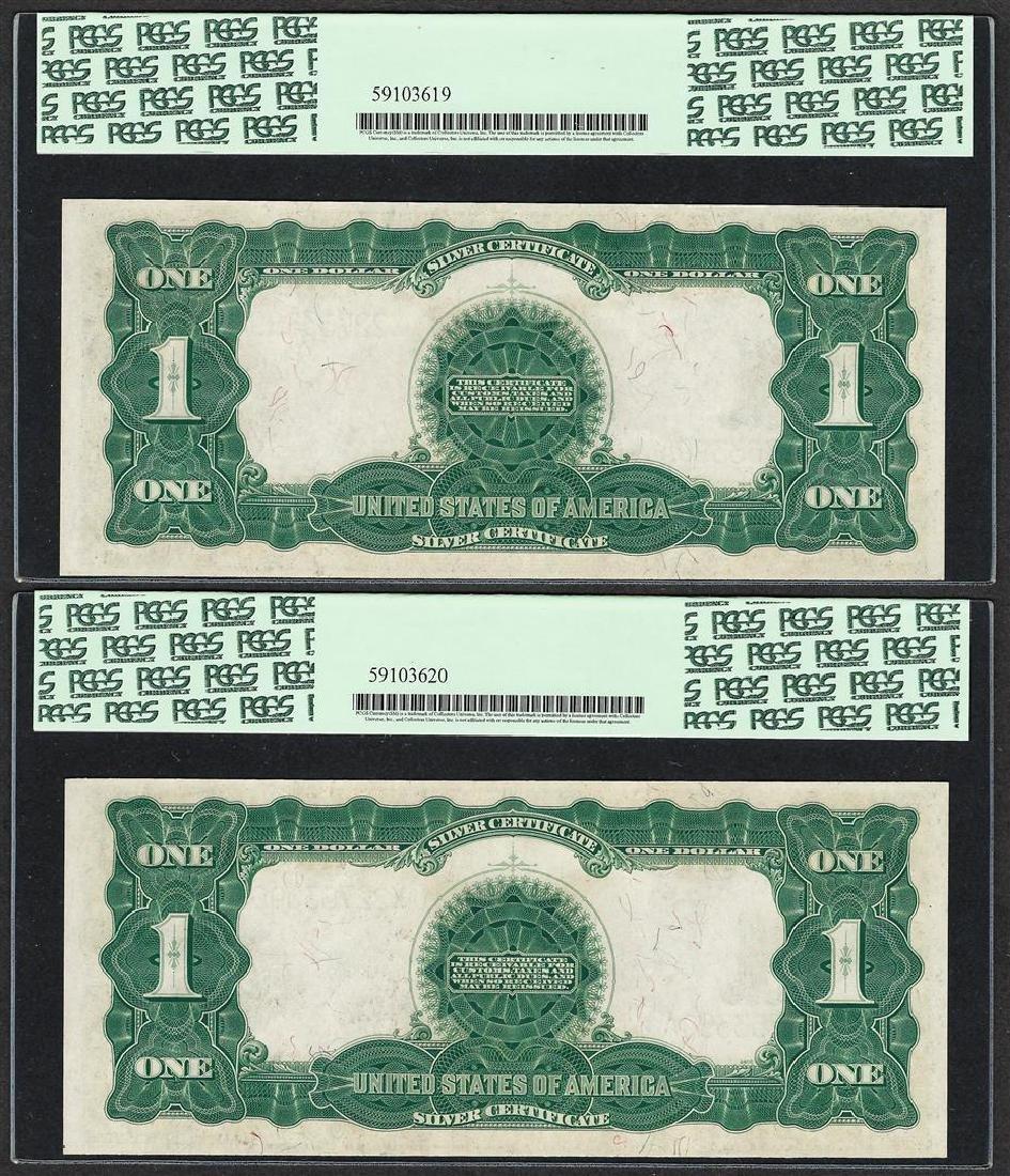 (2) Consecutive 1899 $1 Black Eagle Silver Certificate - 2