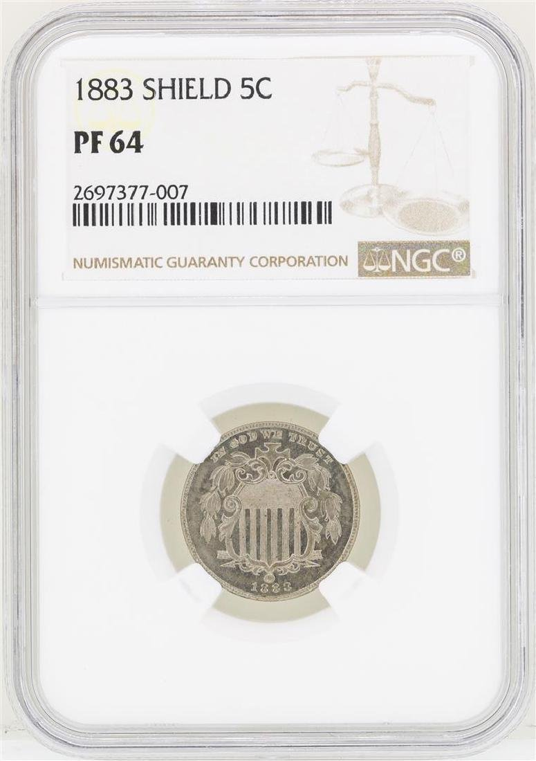 1883 Shield Nickel Proof Coin NGC PF64