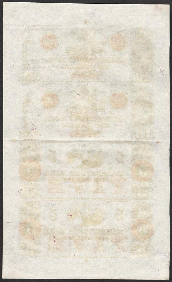 Uncut Sheet 1800's $10/$10/$5/$5 Hagerstown Bank - 2