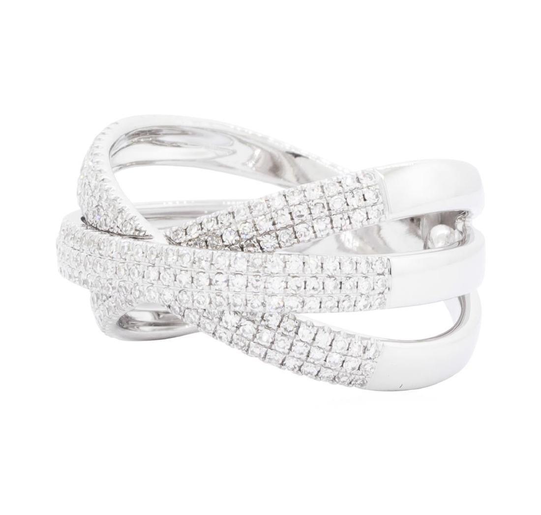 14KT White Gold 0.70 ctw Diamond Ring - 2