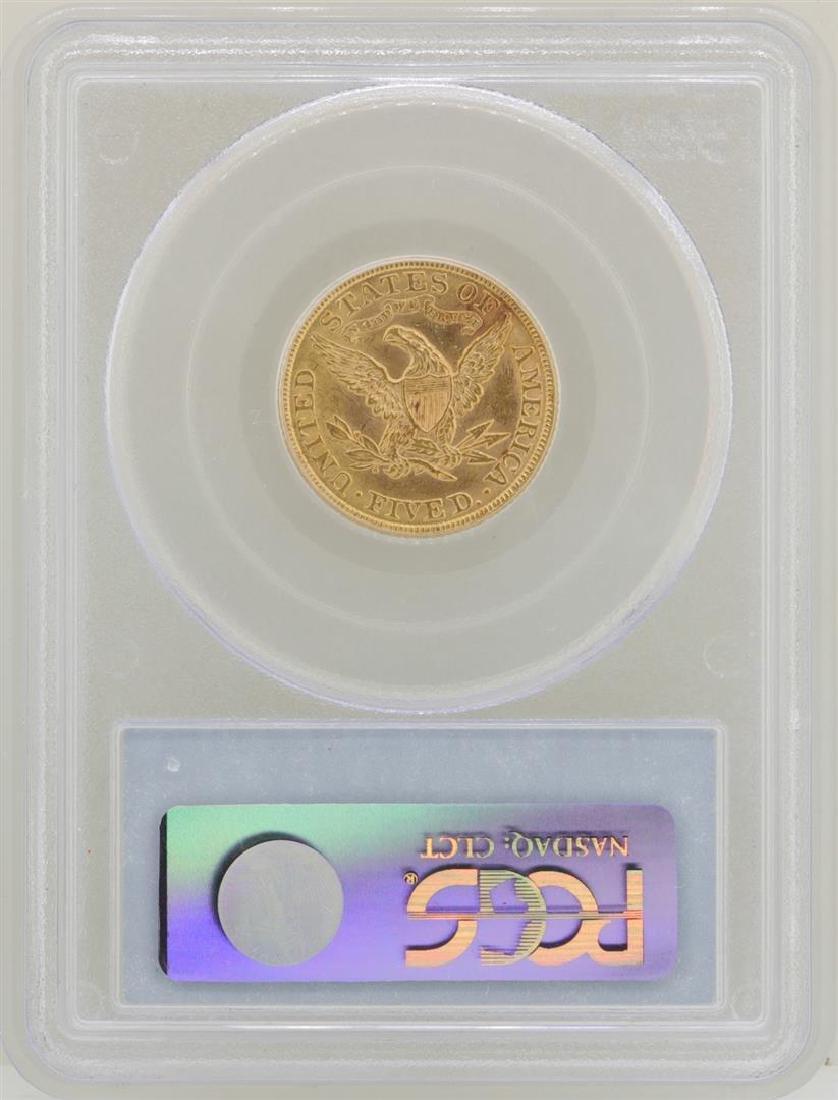1901 $5 Liberty Head Half Eagle Gold Coin PCGS MS62 - 2