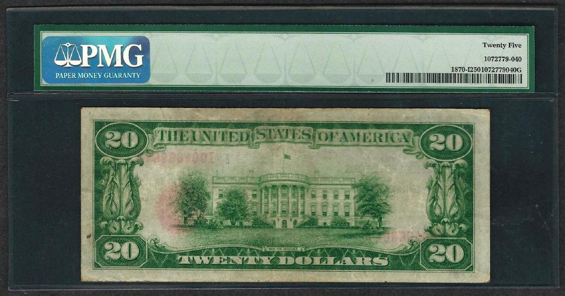 1929 $20 Federal Bank of Minneapolis Note Fr.1870-I PMG - 2