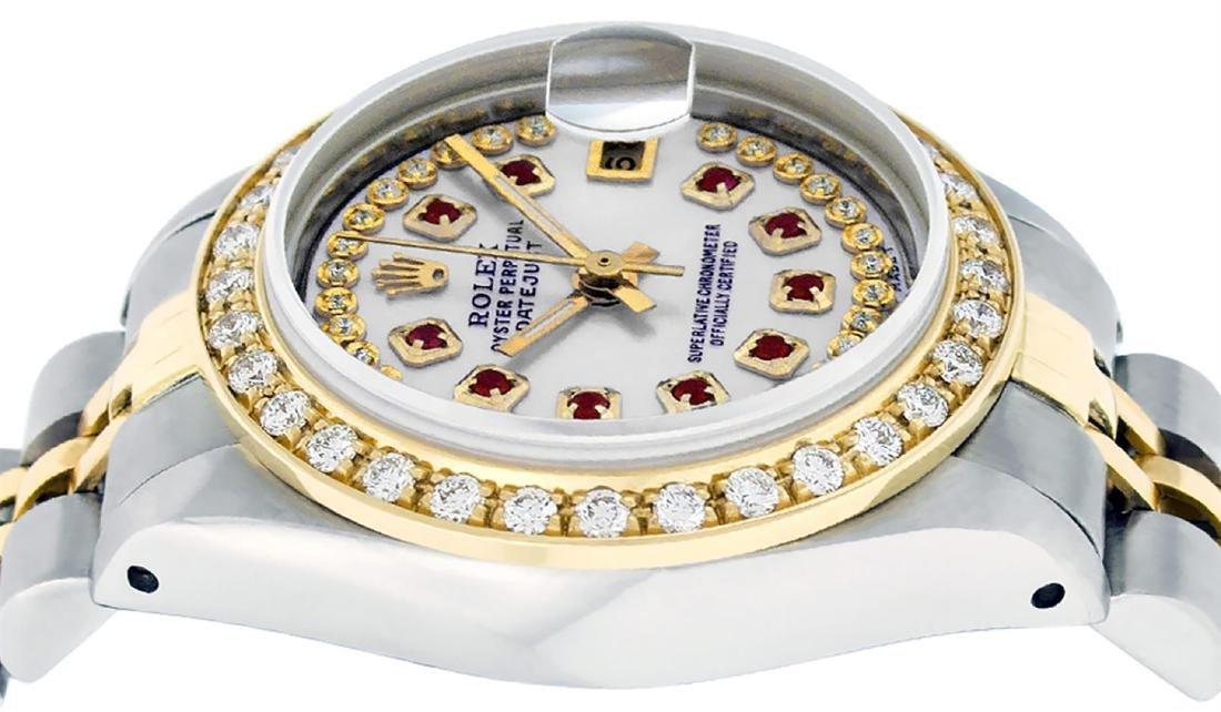 Rolex Ladies Two Tone 14K MOP Ruby String Diamond - 4
