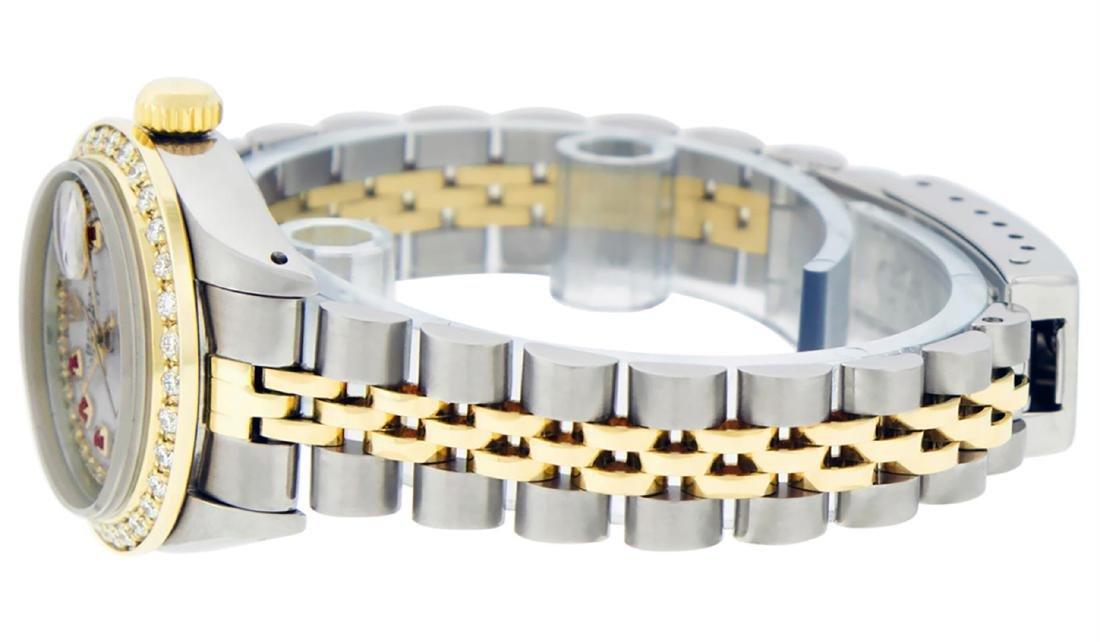 Rolex Ladies Two Tone 14K MOP Ruby String Diamond - 6