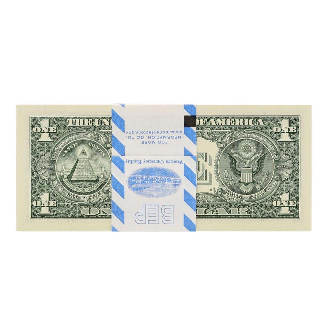 Pack of (100) Consecutive 2013 $1 Federal Reserve STAR - 2