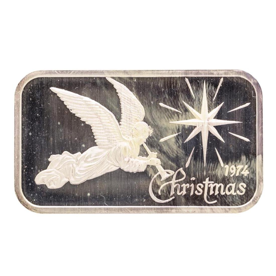 1974 Christmas Madison Mint 1 oz .999 Fine Silver Art