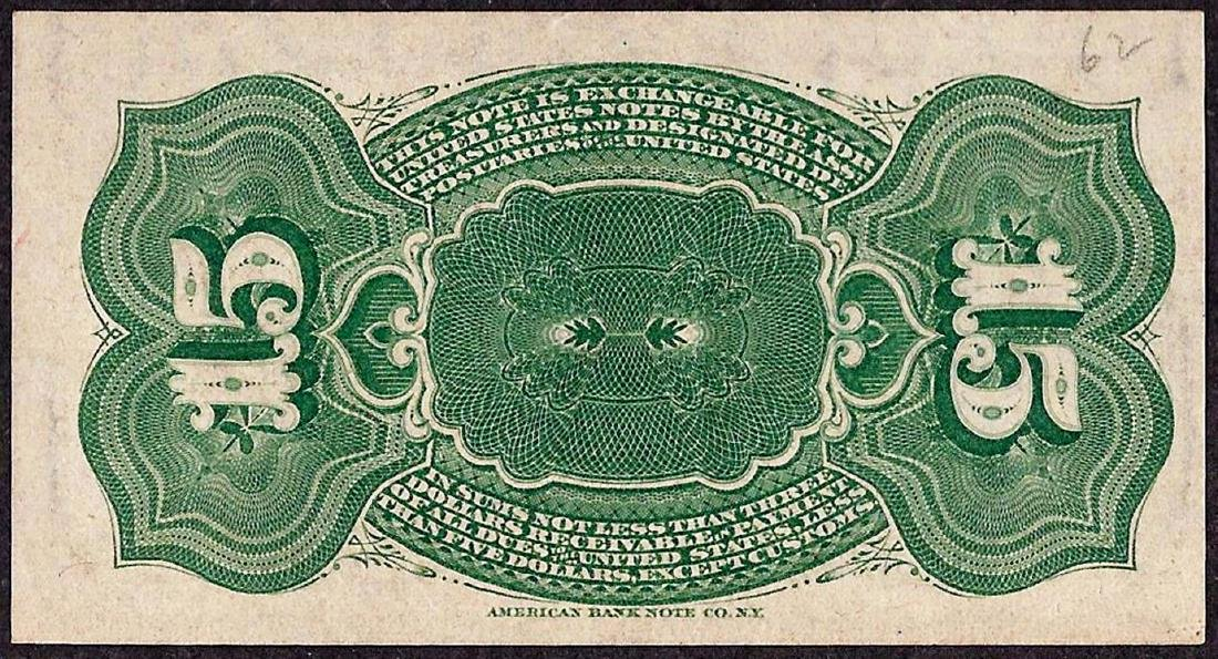 March 3, 1863 Fourth Issue Fifteen Five Cent Fractional - 2