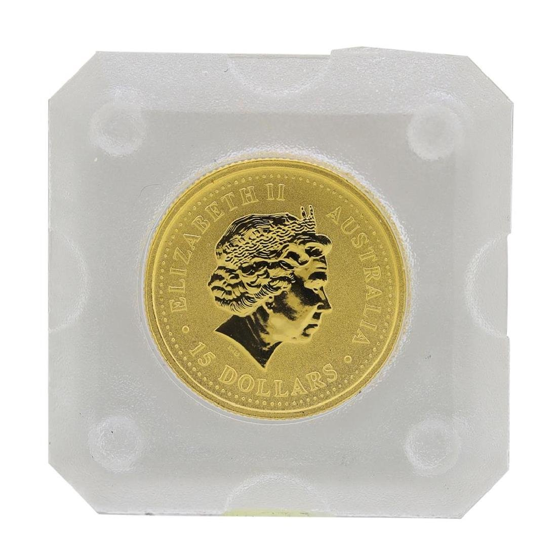 1999 $15 Australia 1/10 oz. Gold Nugget Coin - 2