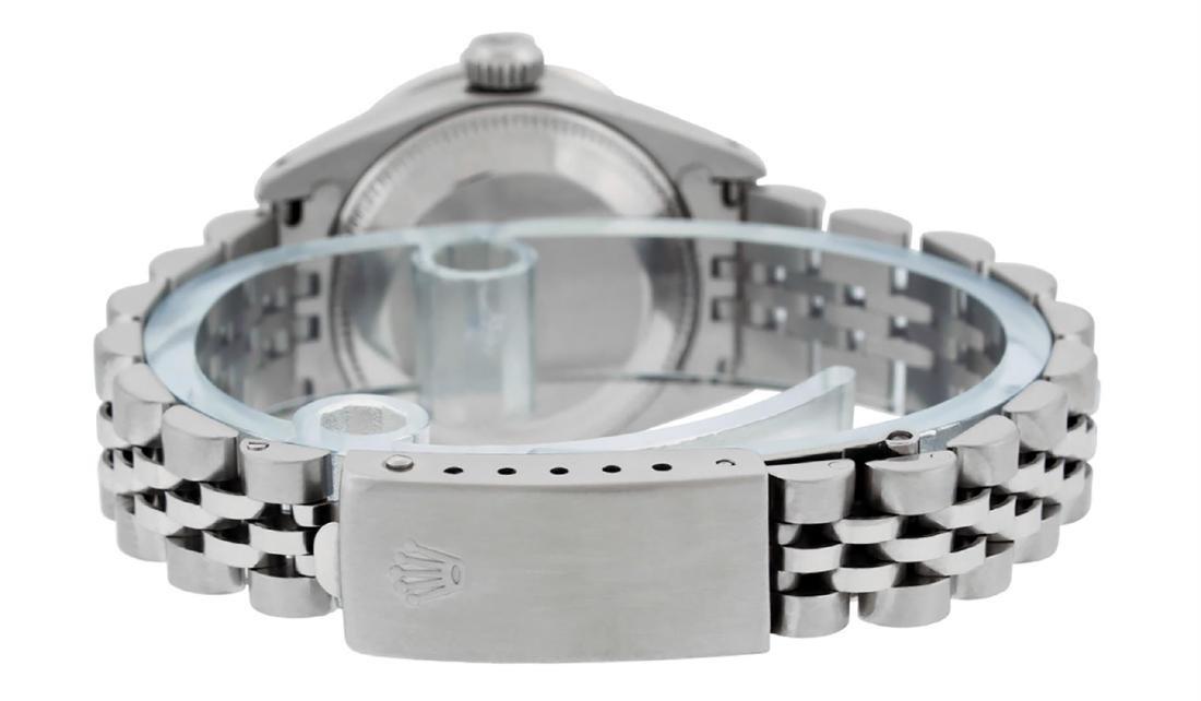 Rolex Ladies Stainless Steel Ice Blue Diamond & - 5