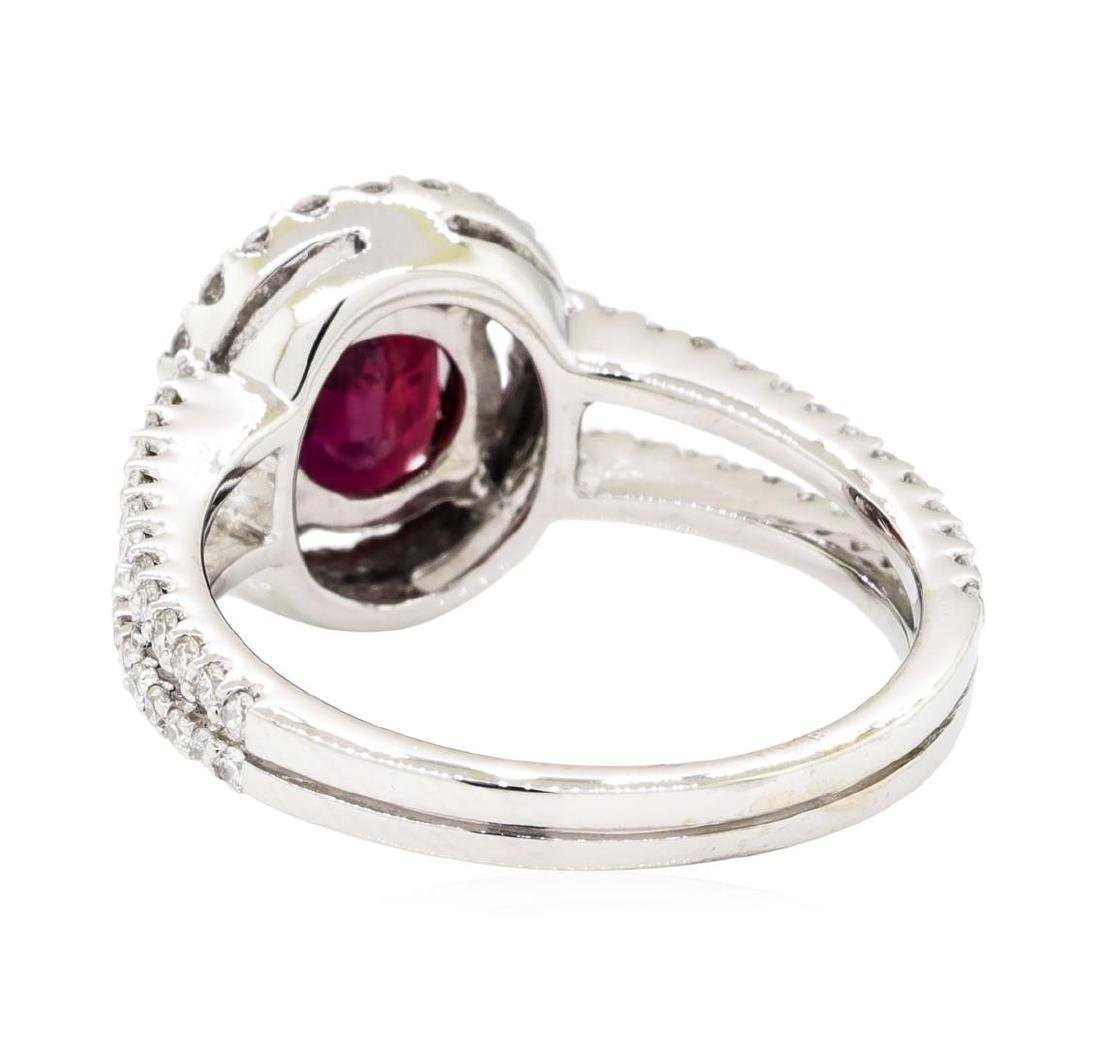 18KT White Gold 1.74 ctw Ruby and Diamond Ring - 3