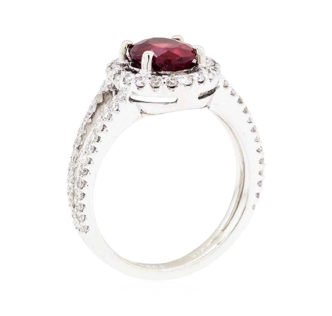 18KT White Gold 1.74 ctw Ruby and Diamond Ring - 4
