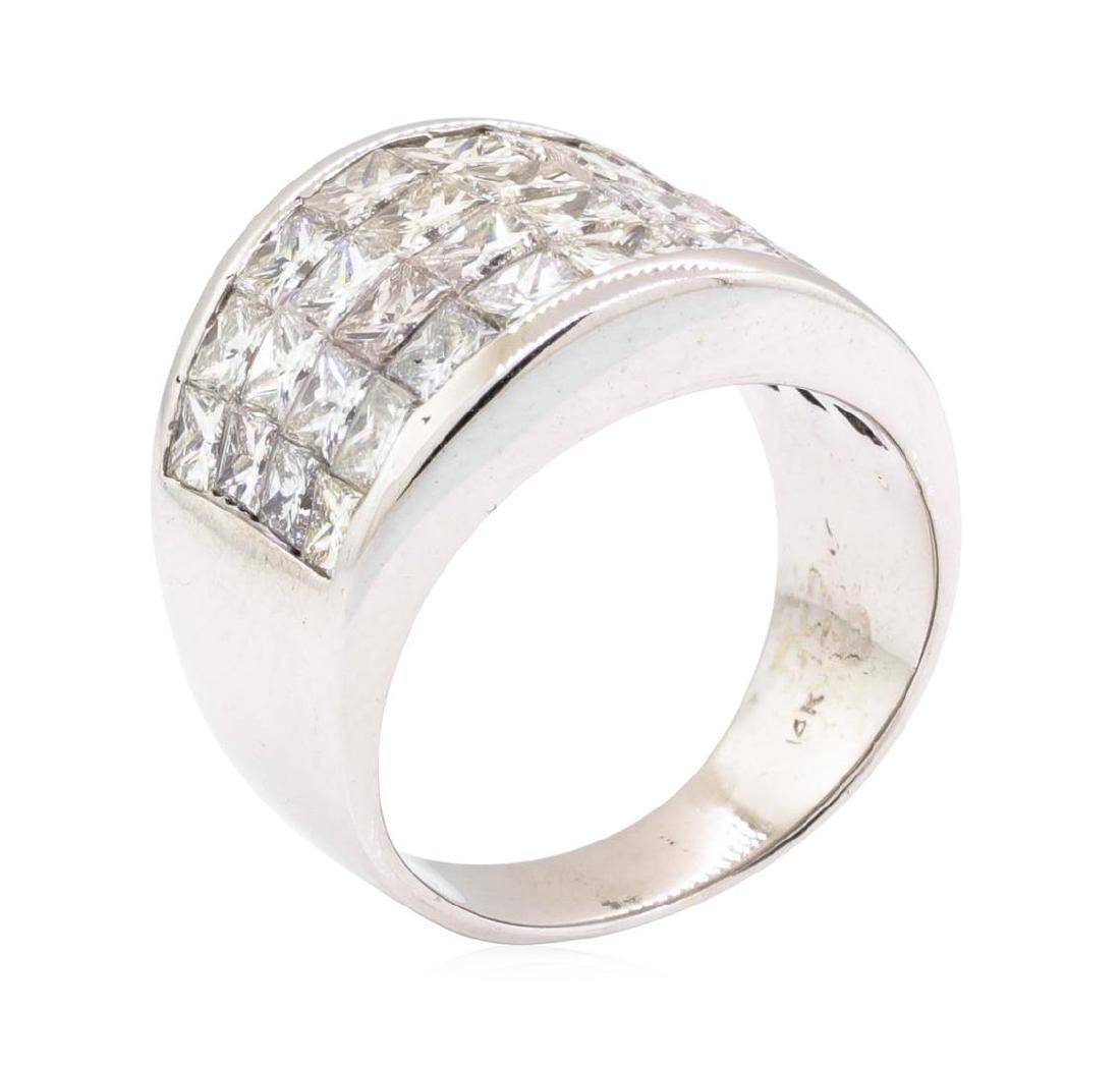 14KT White Gold 4.00 ctw Diamond Wedding Band - 4