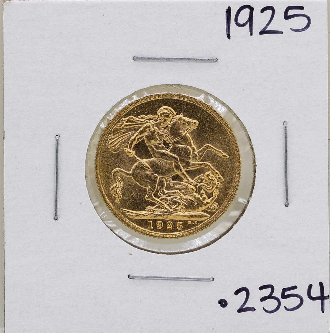 1925 South Africa George V Sovereign Gold Coin