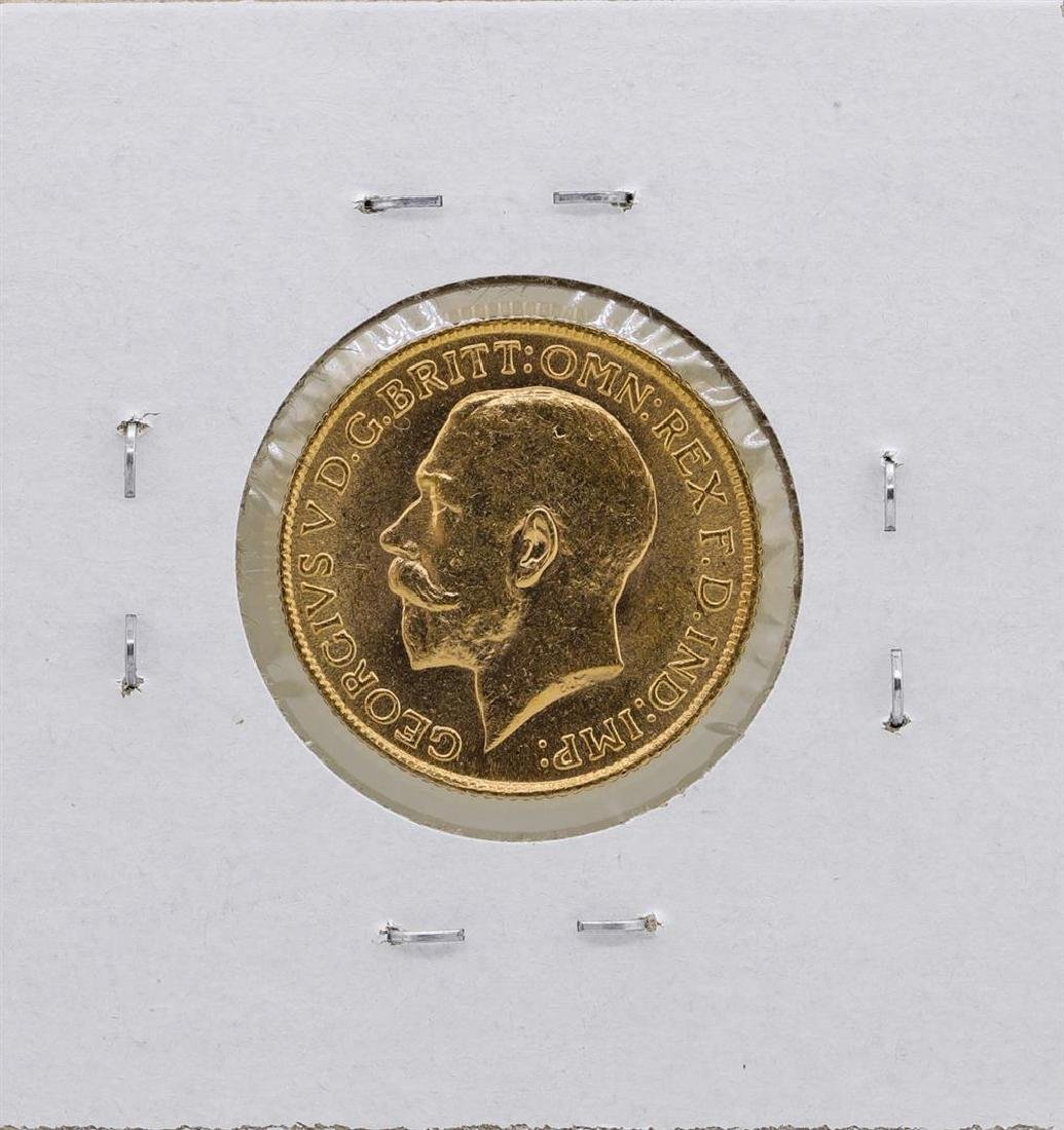 1925 South Africa George V Sovereign Gold Coin - 2