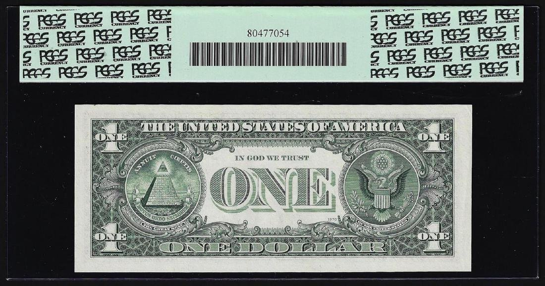 1969B $1 Federal Reserve Note Mismatched Serial Number - 2