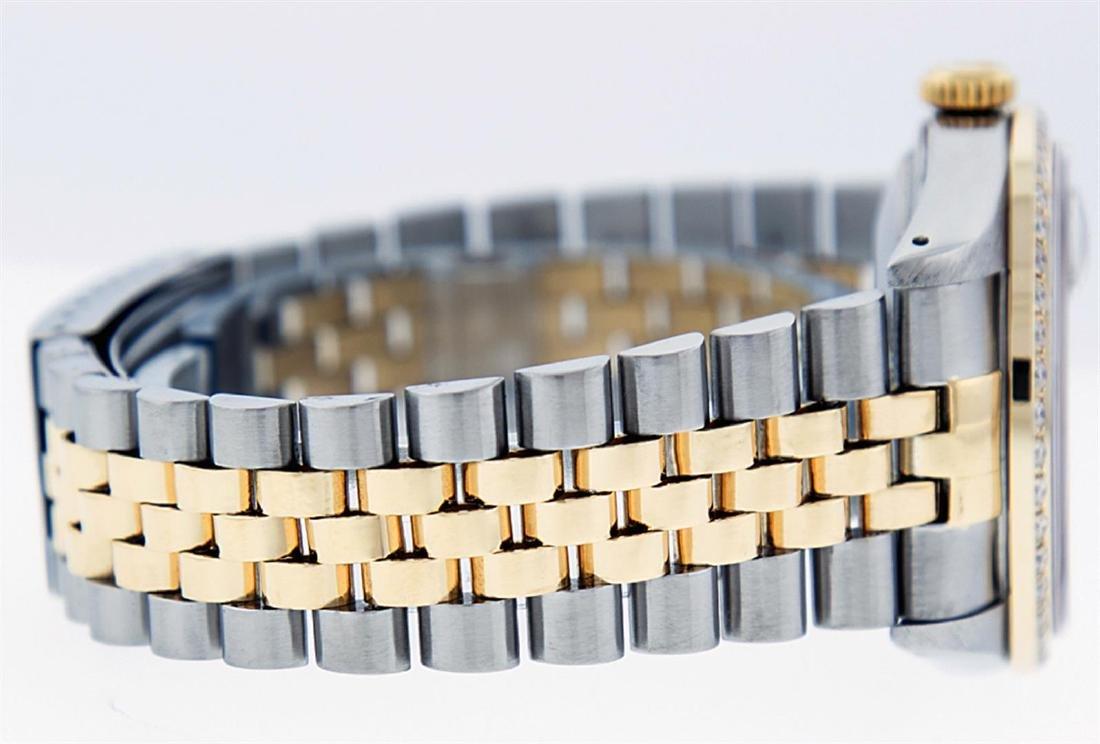 Rolex Men's Two Tone 14K Black String VS Diamond - 6