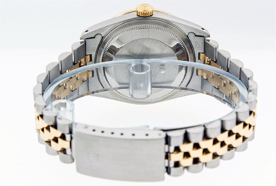Rolex Men's Two Tone 14K Black String VS Diamond - 8