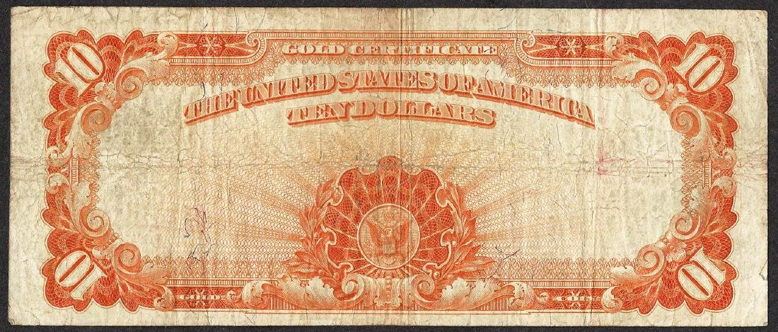 1907 $10 Gold Certificate Note - 2