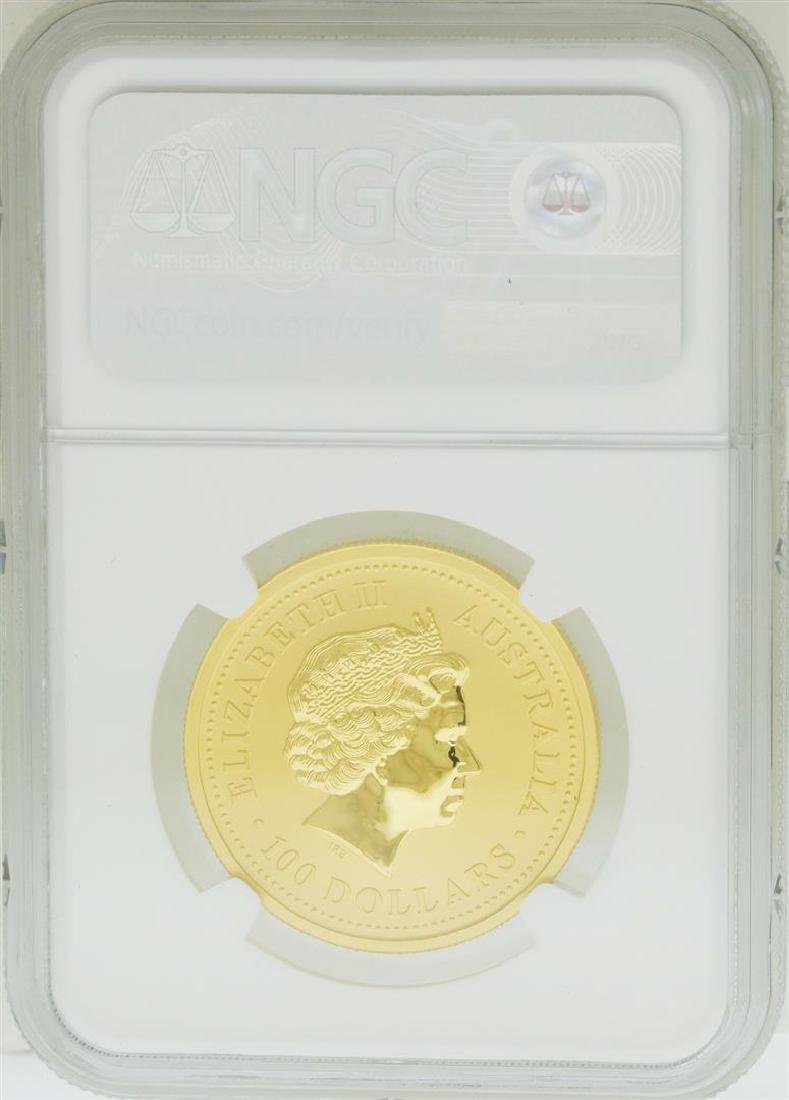 2001 $100 Australia Year of the Snake Gold Coin NGC - 2