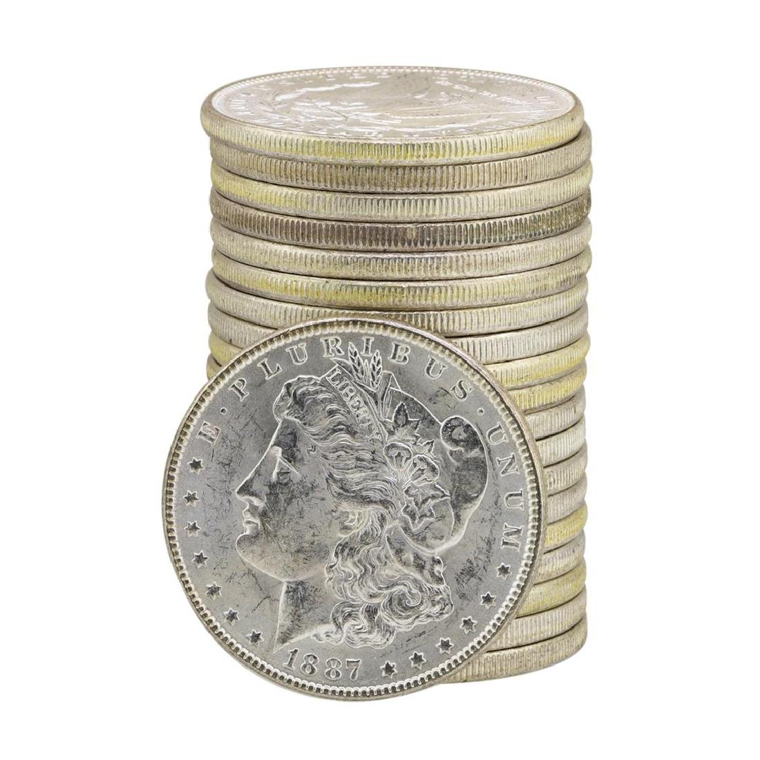 Roll of (20) 1887 $1 Brilliant Uncirculated Morgan