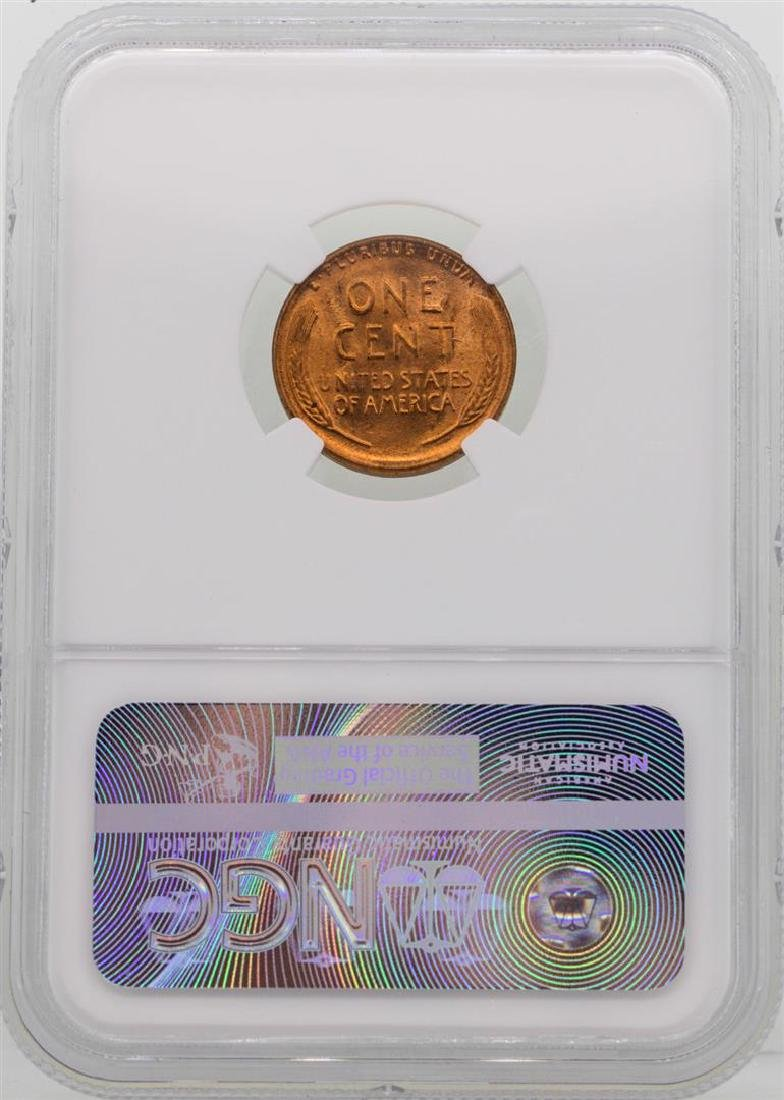 1956 Lincoln Wheat Penny Coin NGC MS66RD - 2
