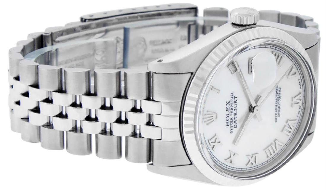 Rolex Men's Stainless Steel Mother Of Pearl Roman - 3
