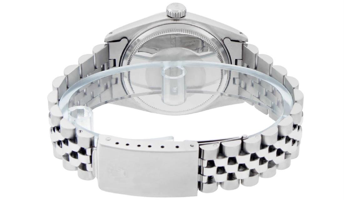 Rolex Men's Stainless Steel Mother Of Pearl Roman - 4